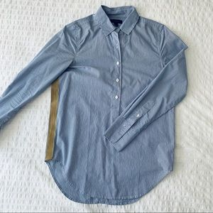 J Crew Long Sleeve Shirt with Ribbon Detail